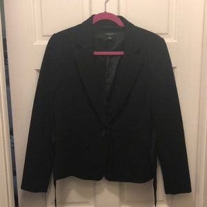 Ann Taylor Crepe Black Suit Jacket/Blazer